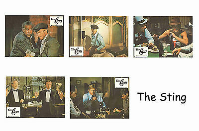 The Sting  - Set Of 5 A4 Sized Reprint Lobby Posters # 1