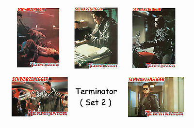 The Terminator  - Set Of 5 A4 Sized Reprint Lobby Posters # 2
