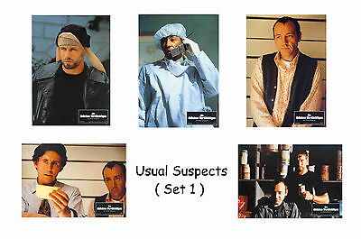 The Usual Suspects  - Set Of 5 A4 Sized Reprint Lobby Posters # 1