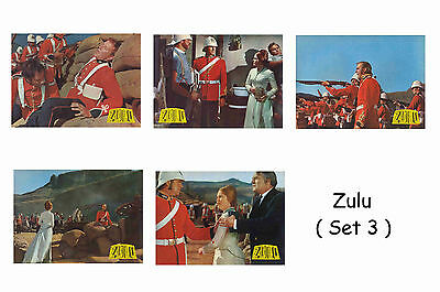 Zulu  - Set Of 5 A4 Sized Reprint Lobby Posters # 3