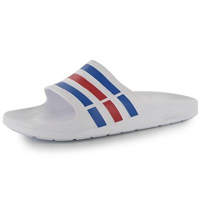 Adidas Mens Duramo Slide On Pool Shoes Sandals Slippers Summer Beach New