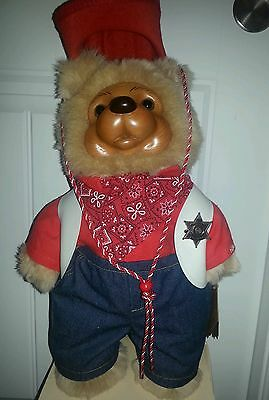 Robert Raikes Wood Carved Jesse Cowboy Sheriff Bear Special Edition