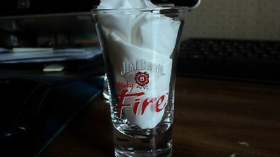 Jim Beam Fire Shot Glass....Tall......NEW