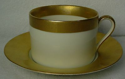 FITZ & FLOYD china CARRE D'OR pattern Cup & Saucer Set @ 2-1/4""