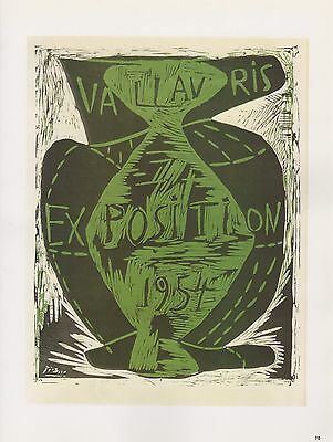 "1989 VINTAGE /""PICASSO EXPOSITION VALLAURIS/"" RASTA COLORS Color offset Lithograph"
