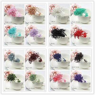 280 x Artificial Flower Stamen Double Tip Pearlized Craft Cards Cakes Decoration