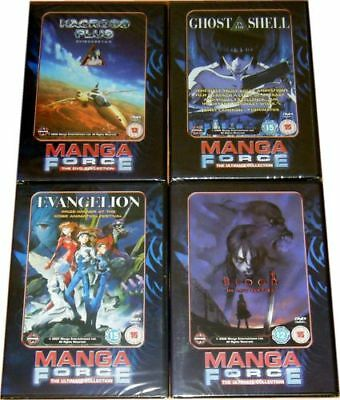 MANGA FORCE ANIME DVD Evangelion Blood Vampire Macross Plus Ghost In The Shell