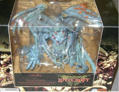 RARE SOTA TOYS NIGHTMARES OF LOVECRAFT EXCLUSIVE BLUE CTHULHU FIGURE W/ RED EYES