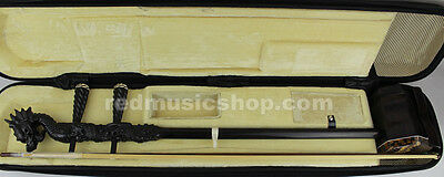 Quality engraved professional ebony ERHU, Dragon head carving,with tutorial book