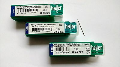 heller quality German HSS_G Micro drill bits X10 various sizes super jobber