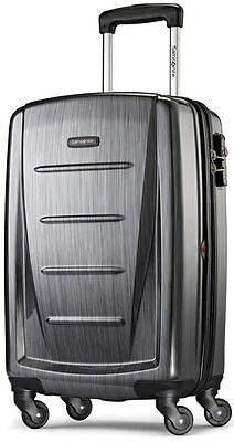 "Samsonite Winfield 2 Fashion 20"" Spinner 4 Wheeled Carry On Luggage - Charcoal"