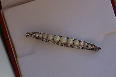 ** Promo ** Broche Barrette  Platine // Diamants // Perles