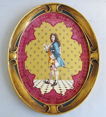Superb French Art Nouveau Hand-Painted Porcelain Plaque  c. 1880   antique plate