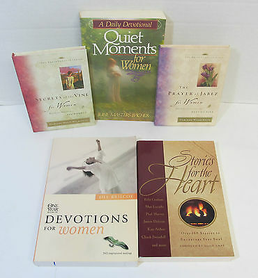 Lot 5 Prayer of Jabez & Secrets of the Vine for WOMEN Quiet Moments DEVOTIONS
