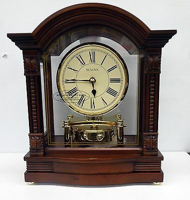 Bulova Mantel Clock- The Bardwellin Antique Walnut Finish B1987