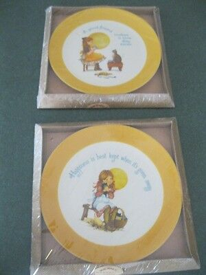 Vintage~ Gibson Dear Hearts Keepsake Collector's Limited Edition Plates Lot Of 2
