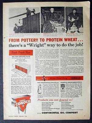 Original 1958 Conoco Oil Ad Photo Endorsed by Clifford Wright of Forsyth Montana