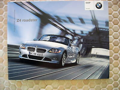 BMW Z4 ROADSTER OFFICIAL ACCESSORIES BROCHURE 2004