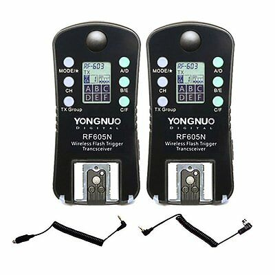 Yongnuo RF-605N RF605N LCD Wireless Flash Trigger & Shutter Release for Nikon US