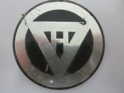 Vintage Motorcycle or Scooter Emblem Badge Unknown Make / Model - H in Triangle