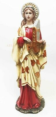 Saint Cecilia Catholic Patroness of Music Martyr Statue Christian Collectible