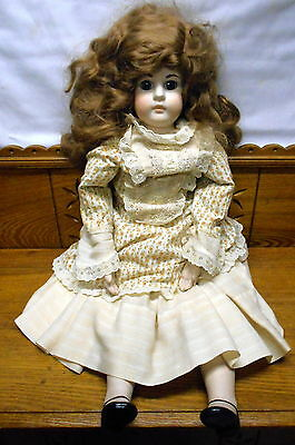 """Large 29"""" Contemporary Bisque Head Doll #1"""