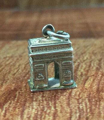 Vintage Arc De Triomphe Charm 925 Sterling Silver Paris France