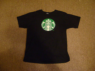 Starbucks T-Shirt Shirt Adult Size Large Black Mermaid Coffee Star Bucks Tee