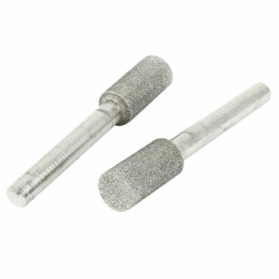 2pcs 6mm Shank 10mm Dia Cylinder Head Grinding Diamond Mounted Point