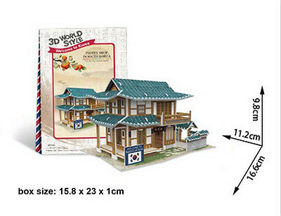 Korea Pastry house 3D Puzzle boys girls Model Paper DIY Educational toys