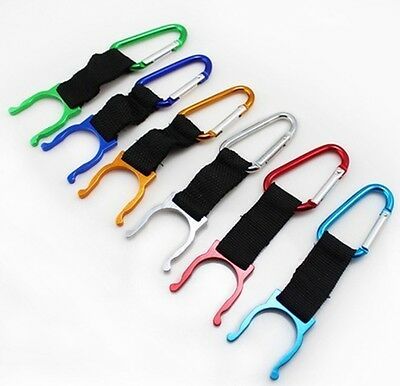 2pcs outdoors Camping Carabiner Water Bottle Buckle Hook Holder Clip