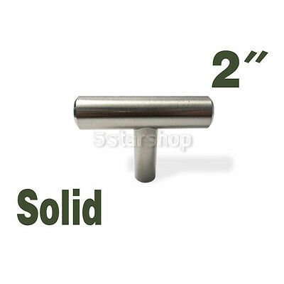 "2"" Brushed Nickel Kitchen Cabinet T Bar Pull Handle Knob Hardware 6.95 Shipping"