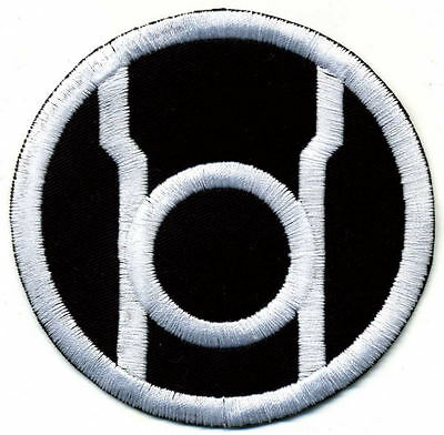 """3.5"""" Red Lantern Corps Classic Style Embroidered Patch:White Thread/Black Fabric"""