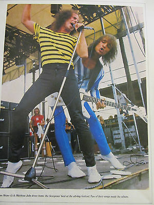The Scorpions, Full Page Vintage Pinup