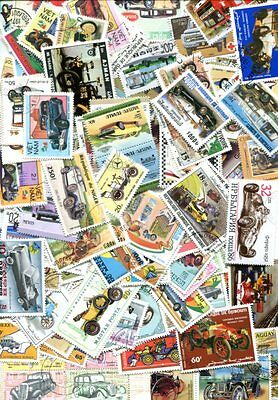 200 Different Car  And Motor Vehicle Stamps - No Duplicates -  No Damaged!