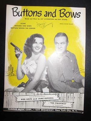 Buttons And Bows Sheet Music Vintage 1948 Paleface Jay Livingston Ray Evans (O)
