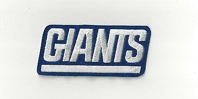 """Vintage 1980s BLUE NY New York Giants 3 3/4"""" Old Logo Script Throwback Patch"""
