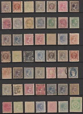 (G0675) PHILIPPINES - FILIPINAS. COLLECTION OF OLD STAMPS ON STOCK PAGE