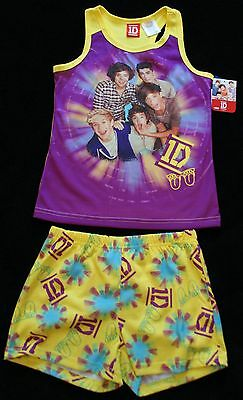 NEW GIRLS SIZE 6 - 6X  1D ONE DIRECTION 2 PC TANK TOP & SHORTS PJS Nice