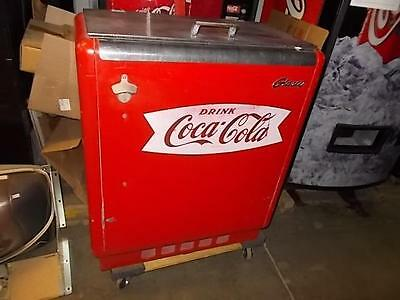 """COCA COLA COKE GLASCO CHEST COOLER- """"AS IS"""" - WORKS GREAT!"""