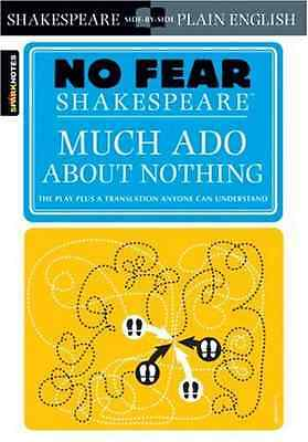 No Fear: Much Ado About Nothing (Sparknotes No Fear Sha - Paperback NEW Crowther