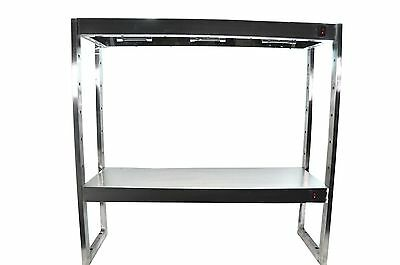 New S/s 6 Lamp Table Top Adjustable 2 Tier Heated Gantry Light Pass Through