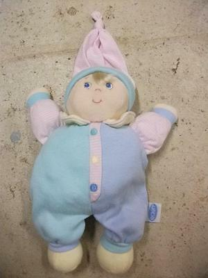 "Vintage Eden Plush Baby Boy Doll 11"" Velour Terry Soft Cloth Toy"