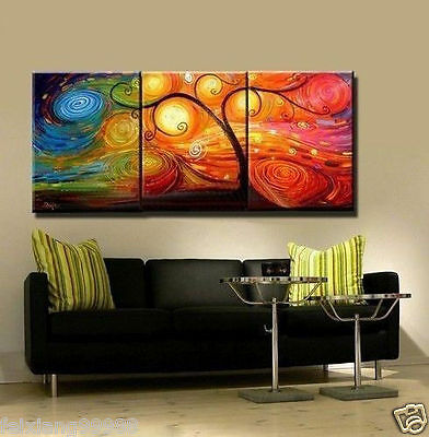 HUGE OIL PAINTING MODERN ABSTRACT WALL DECOR ART CANVAS Tree (no frame)