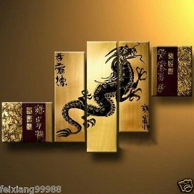 Modern Abstract Huge Art Oil Painting Canvas (No frame) Huge ( China Dragon )