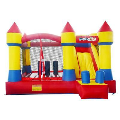 Bounceland Giant Turret Climb n Slide 12.5ft Bouncy Castle with Airflow Fan