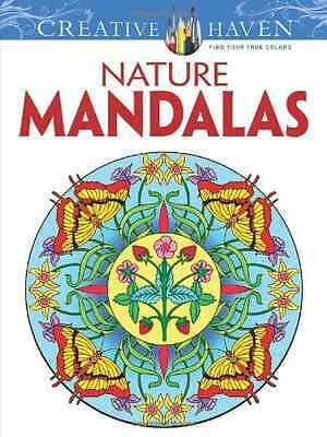 Nature Mandalas (Creative Haven Coloring Books) - Paperback NEW Marty Noble 2012