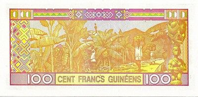 GUINEA 2012 100 FRANCS  BANK NOTE in a Protective Sleeve