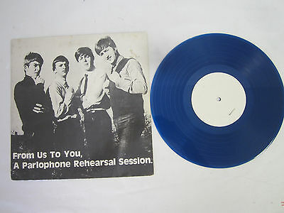 """The Beatles From Us to You A Parlophone Rehearsal Session 1975 Blue Vinyl 10"""""""