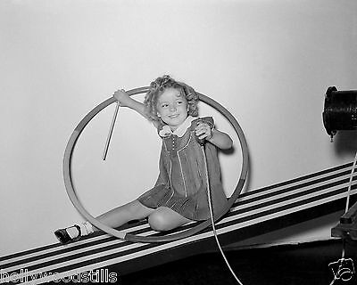 Shirley Temple in a round tube rare 8x10 photo